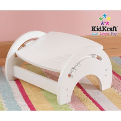 Kidkraft® White Finished Nursing Stool