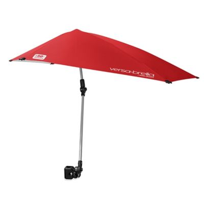 Sport-Brella Versa-Brella All-Position Beach Umbrella with Universal Clamp in Firebrick Red