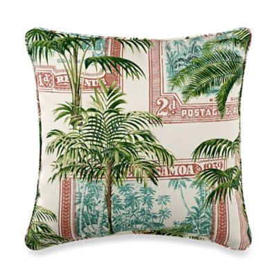 17-Inch Square Throw Pillow in Key Biscayne