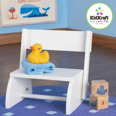 Kidkraft® White Finished Flip Stool