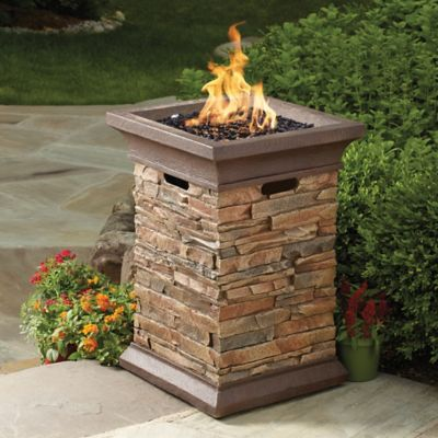 Pulse Ignition 40000 BTU Gas Pedestal Fire Pit