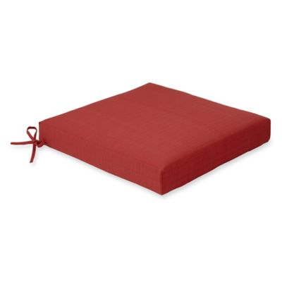 Solid Outdoor Dining Cushion in Red