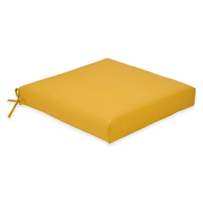 Outdoor Dining Cushion in Yellow