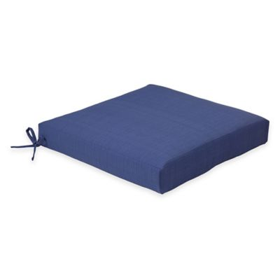 Solid Outdoor Dining Cushion in Pool Blue