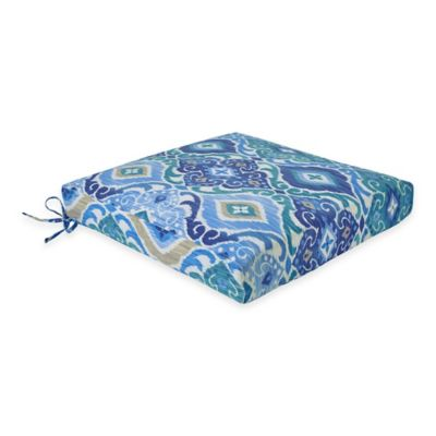 Outdoor Dining Cushion in Ikat