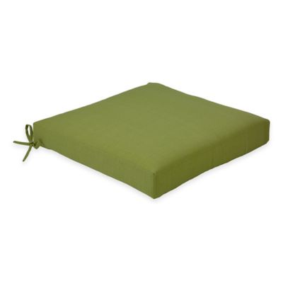 Solid Outdoor Dining Cushion in Kiwi