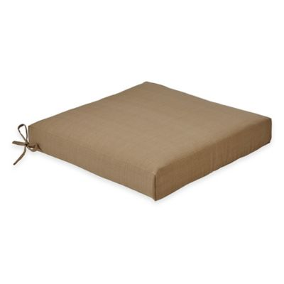 Solid Outdoor Dining Cushion in Camel