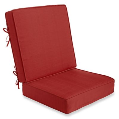 2-Piece Deep Seat Cushion in Red