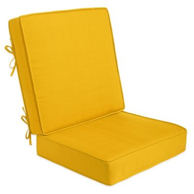 2-Piece Outdoor Deep Seat Cushions in Yellow