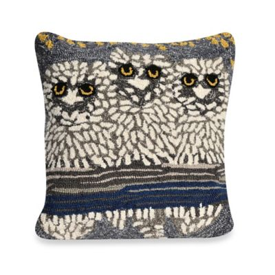 Liora Manne Frontporch Owls Night Square Throw Pillow