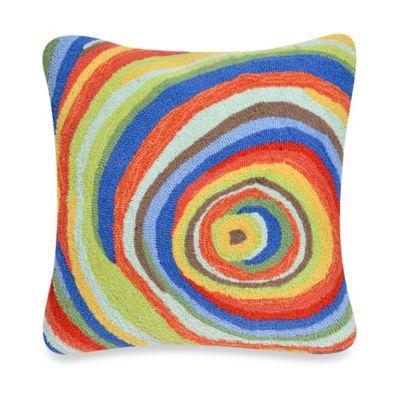 Liora Manne Frontporch Spiral Square Throw Pillow