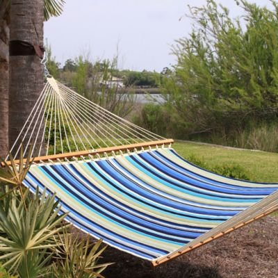 Pawleys Island® Stripe Print Large Quilted Hammock