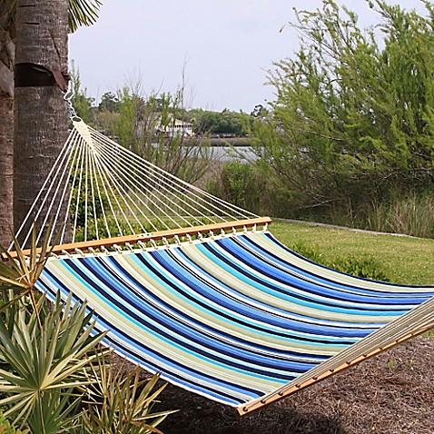 Pawleys Island 174 Stripe Print Large Quilted Hammock Bed