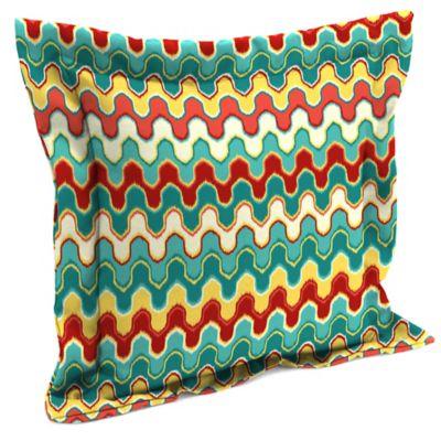17-Inch Blue Outdoor Pillow