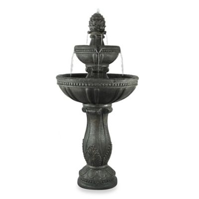 Saint Tropez™ Bergamo Rechargeable 3-Tier Fountain in Mahogany