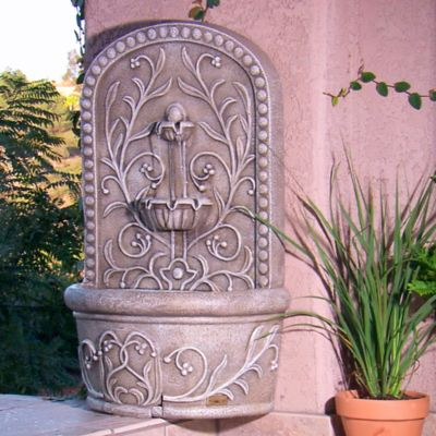 Saint Tropez™ Murale Rechargeable Wall Fountain in Grey