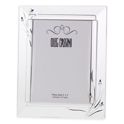 Oleg Cassini Something Blue 5-Inch x 7-Inch Picture Frame