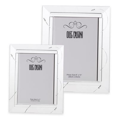 Oleg Cassini Tiara Crystal 5-Inch x 7-Inch Picture Frame