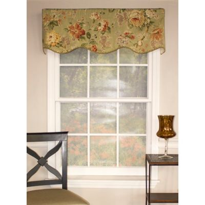 RL Fisher Le Fleur Provanace Window Valance in Mint
