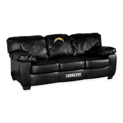 NFL San Diego Chargers Black Leather Classic Sofa