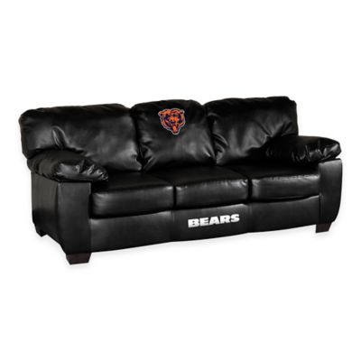 NFL Chicago Bears Black Leather Classic Sofa