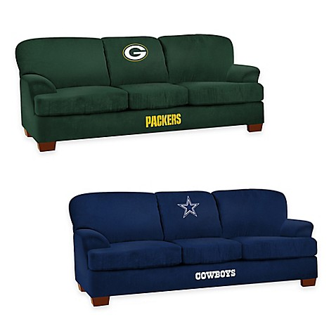 nfl microfiber first team sofa. Black Bedroom Furniture Sets. Home Design Ideas