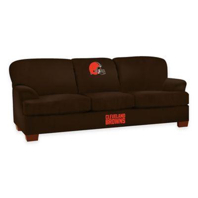 NFL Cleveland Browns Microfiber First Team Sofa