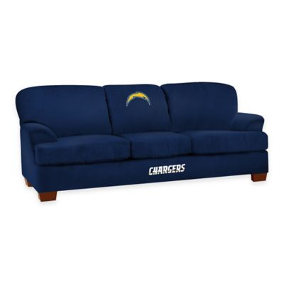 NFL San Diego Chargers Microfiber First Team Sofa
