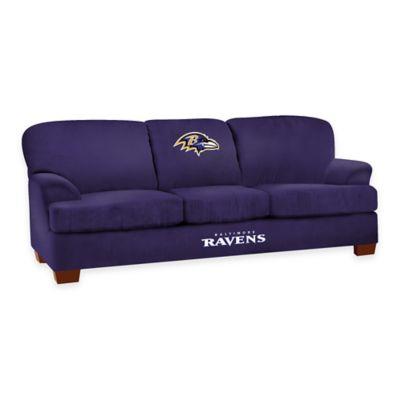 NFL Baltimore Ravens Microfiber First Team Sofa