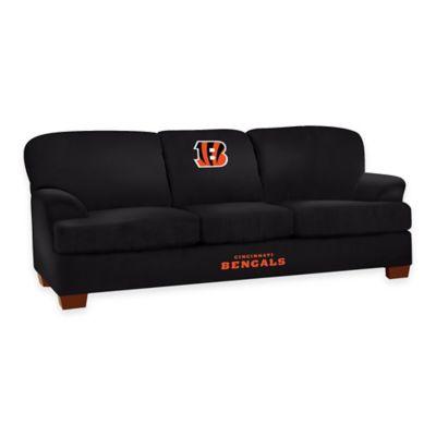 NFL Cincinnati Bengals Microfiber First Team Sofa