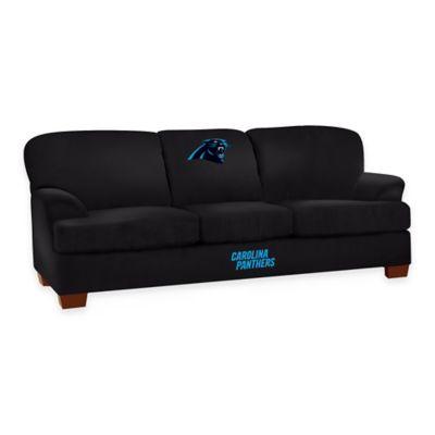 NFL Carolina Panthers Microfiber First Team Sofa