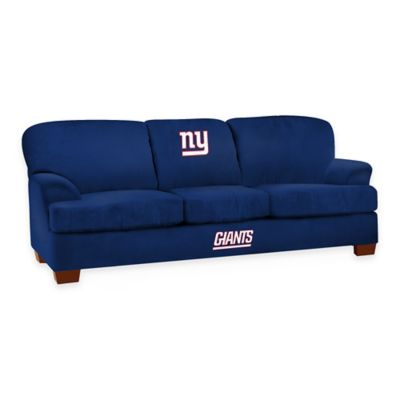 NFL New York Giants Microfiber First Team Sofa