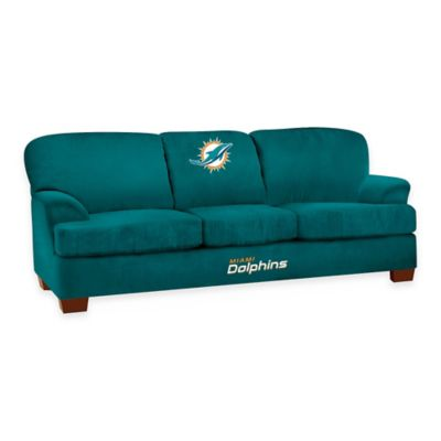 NFL Miami Dolphins Microfiber First Team Sofa