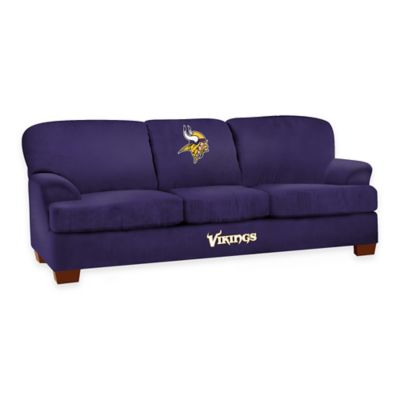 NFL Minnesota Vikings Microfiber First Team Sofa