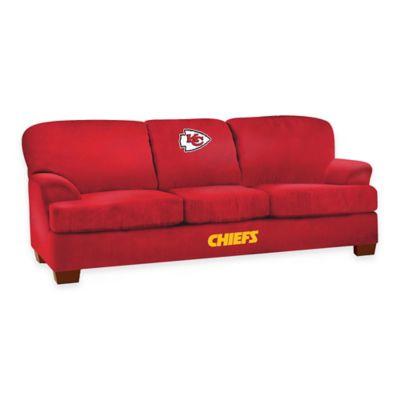 NFL Kansas City Chiefs Microfiber First Team Sofa