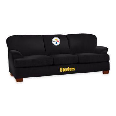 NFL Pittsburgh Steelers Microfiber First Team Sofa
