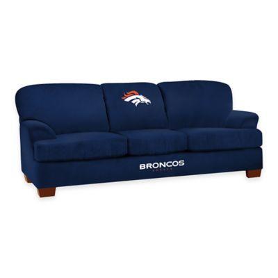 NFL Denver Broncos Microfiber First Team Sofa