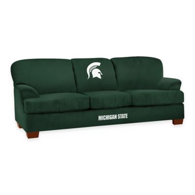 Michigan State University First Team Microfiber Sofa