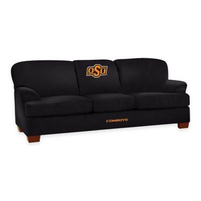 Oklahoma State University First Team Microfiber Sofa