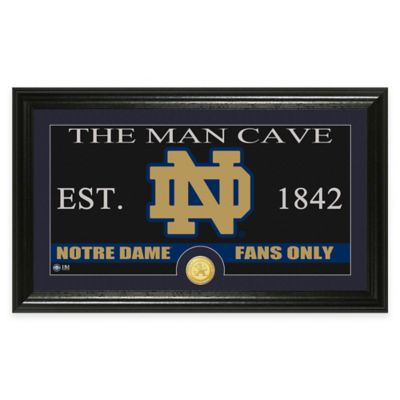 "University of Notre Dame ""Man Cave"" Bronze Coin Panoramic Photo Mint"
