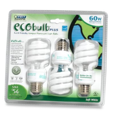 ecobulb® Plus 60-Watt Compact Fluorescent Light Bulb (3-Pack)
