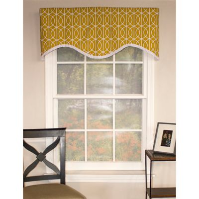 RL Fisher Sequence Cornice Window Valance in Charcoal