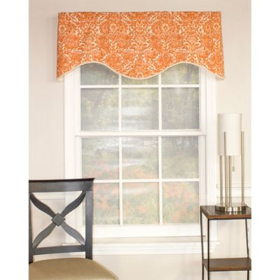 Blue Orange Window Valance