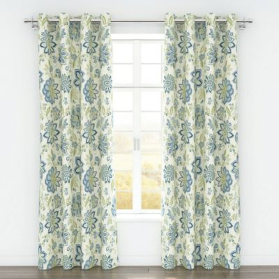 Colorfly™ Bella 84-Inch Grommet Top Window Curtain Panel Pair in Melon