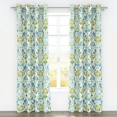 Colorfly™ Sasha 84-Inch Grommet Top Window Curtain Panel Pair in Sea Moss