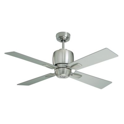 Emerson Veloce 46-Inch Single-Light Ceiling Fan in Brushed Steel/Chocolate with Remote Control