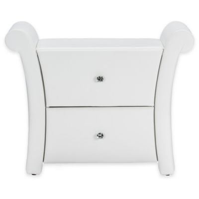 Victoria Upholstered Nightstand in White