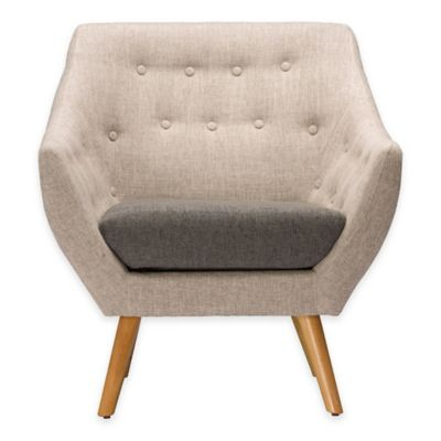 Baxton Studio Astrid Arm Chair in Grey