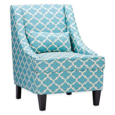 Baxton Studio Lotus Occasional Chair in Lotus Blue