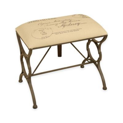 """""""Post Card"""" Stamped Bench in Cream"""